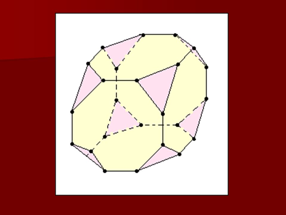 3. feladat Egy kocka minden sarkát levágtuk egy, a kérdéses csúcsba futó élek ezen csúcshoz közelebbi harmadoló pontján átmenő síkkal. Az így visszama