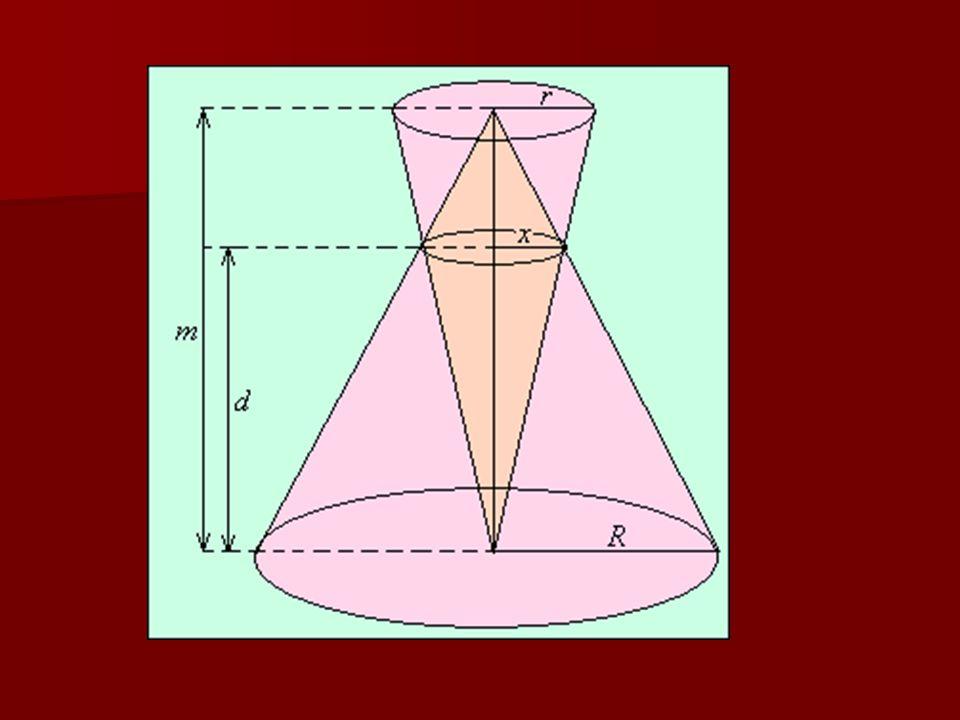 1. feladat Két egyenes körkúp úgy helyezkedik el, hogy alapköreik párhu- zamosak, és mindegyik csúcsa a másik alapkö- rének középpontjába esik egymást