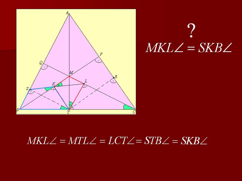 3. feladat Legyen T az ABC he- gyes szögű három- szög A-ból induló magasságának talp- pontja.