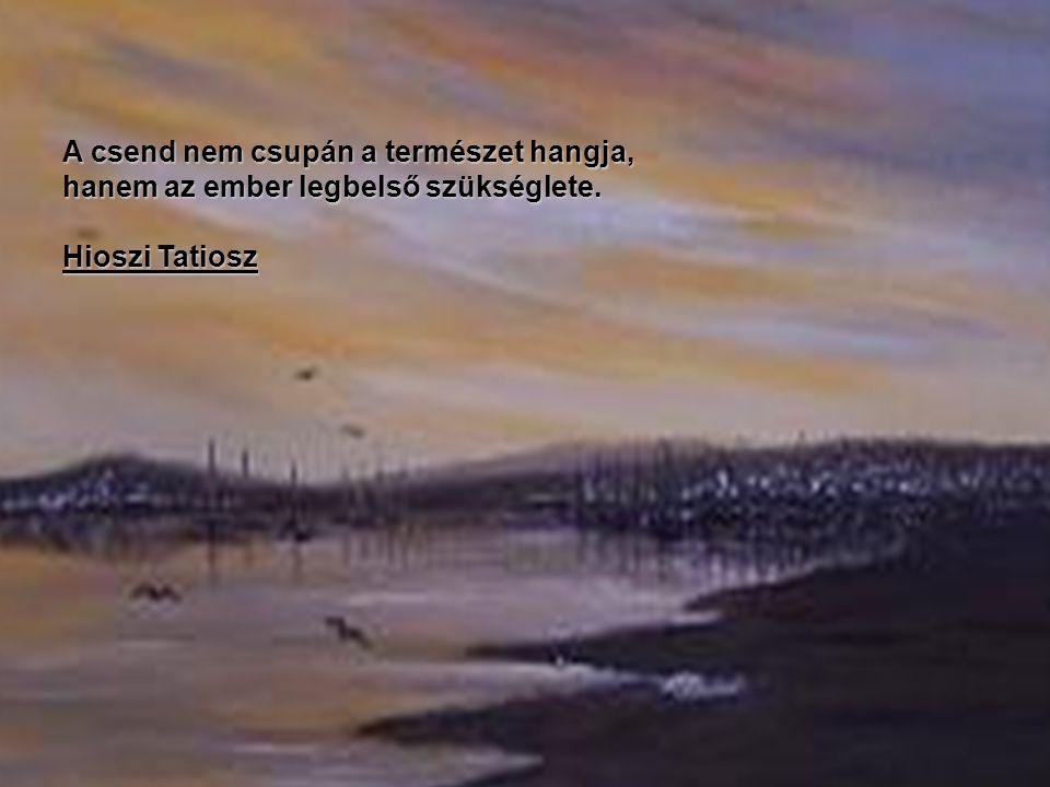 A csend nem csupán a természet hangja, hanem az ember legbelső szükséglete. Hioszi Tatiosz