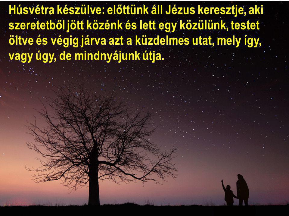 Húsvétra készülve: előttünk áll Jézus keresztje, aki szeretetből jött közénk és lett egy közülünk, testet öltve és végig járva azt a küzdelmes utat, mely így, vagy úgy, de mindnyájunk útja.