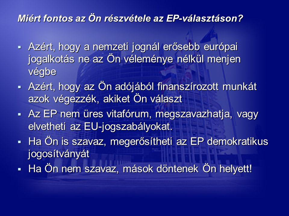 Miért fontos az Ön részvétele az EP-választáson.