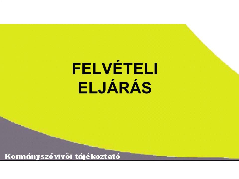˝ FELVÉTELI ELJÁRÁS