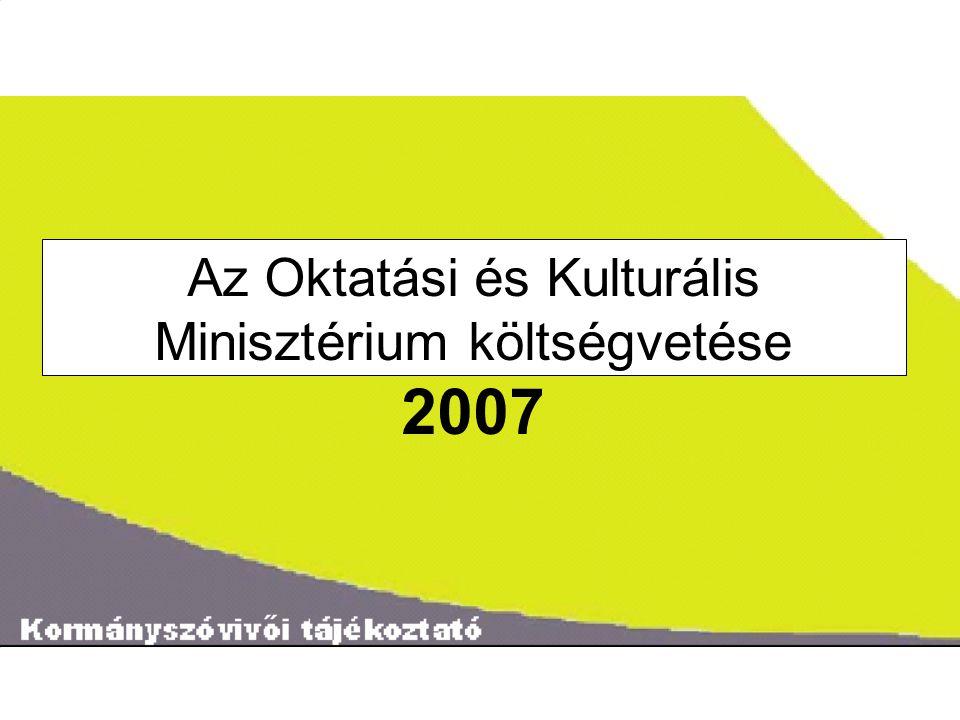 ˝ Az Oktatási és Kulturális Minisztérium költségvetése 2007
