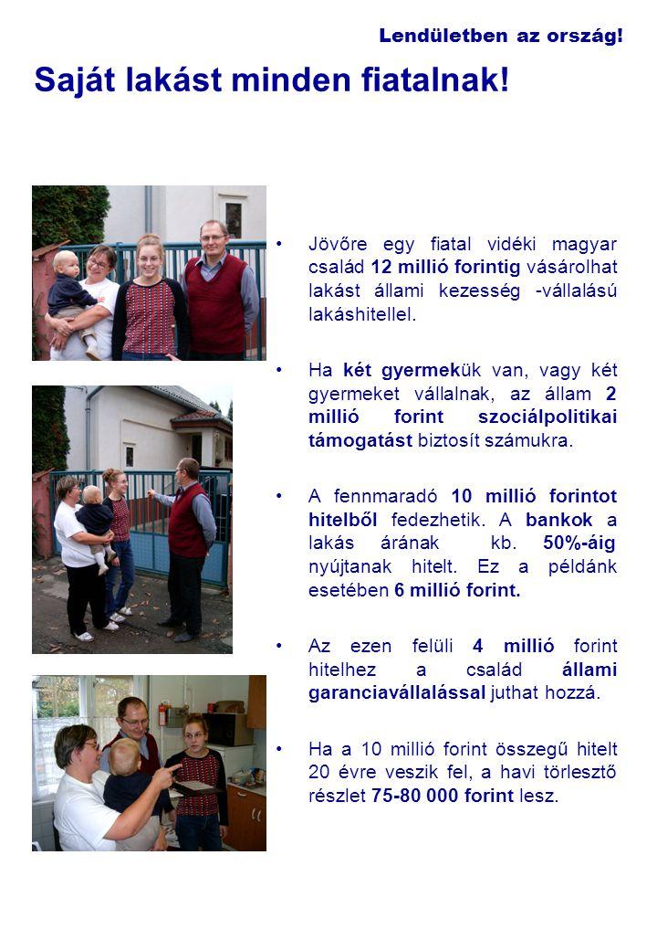 Lendületben az ország! Saját lakást minden fiatalnak! Jövőre egy fiatal vidéki magyar család 12 millió forintig vásárolhat lakást állami kezesség -vál