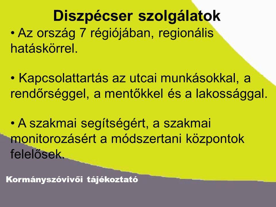 Kormányszóvivői tájékoztató Az ország 7 régiójában, regionális hatáskörrel.