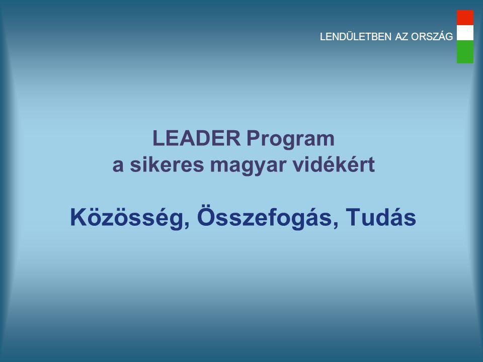LENDÜLETBEN AZ ORSZÁG LEADER Program a sikeres magyar vidékért Közösség, Összefogás, Tudás