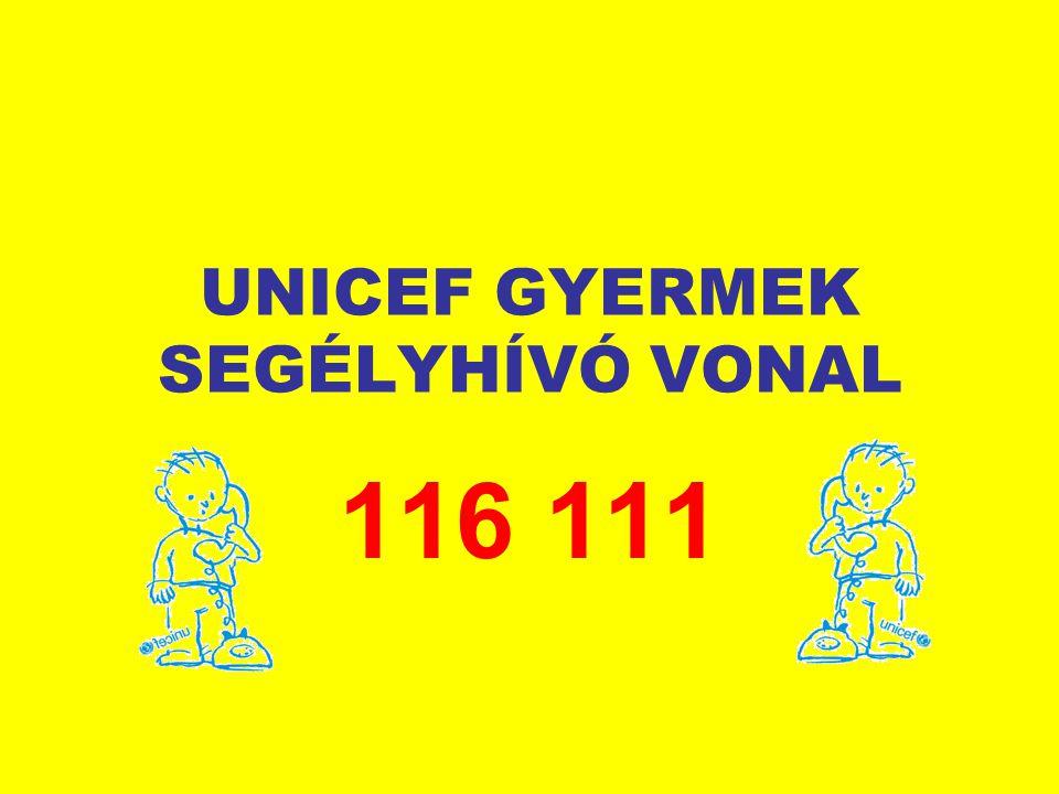 UNICEF GYERMEK SEGÉLYHÍVÓ VONAL 116 111