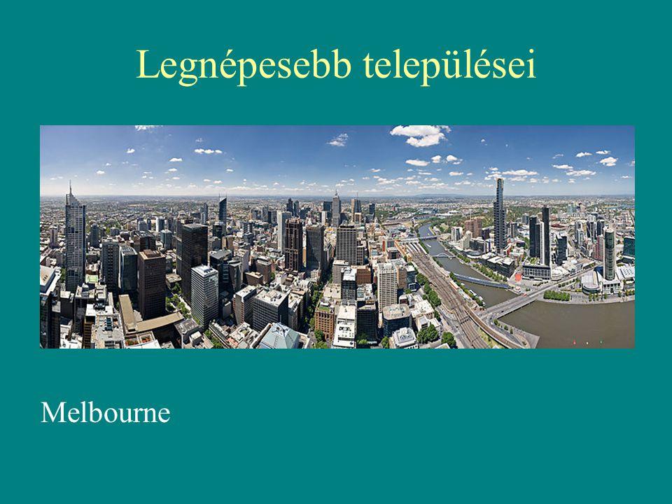 Legnépesebb települései Melbourne