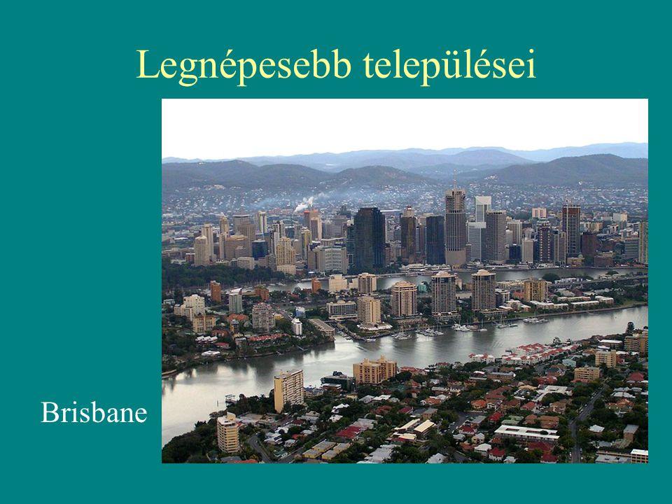 Legnépesebb települései Brisbane
