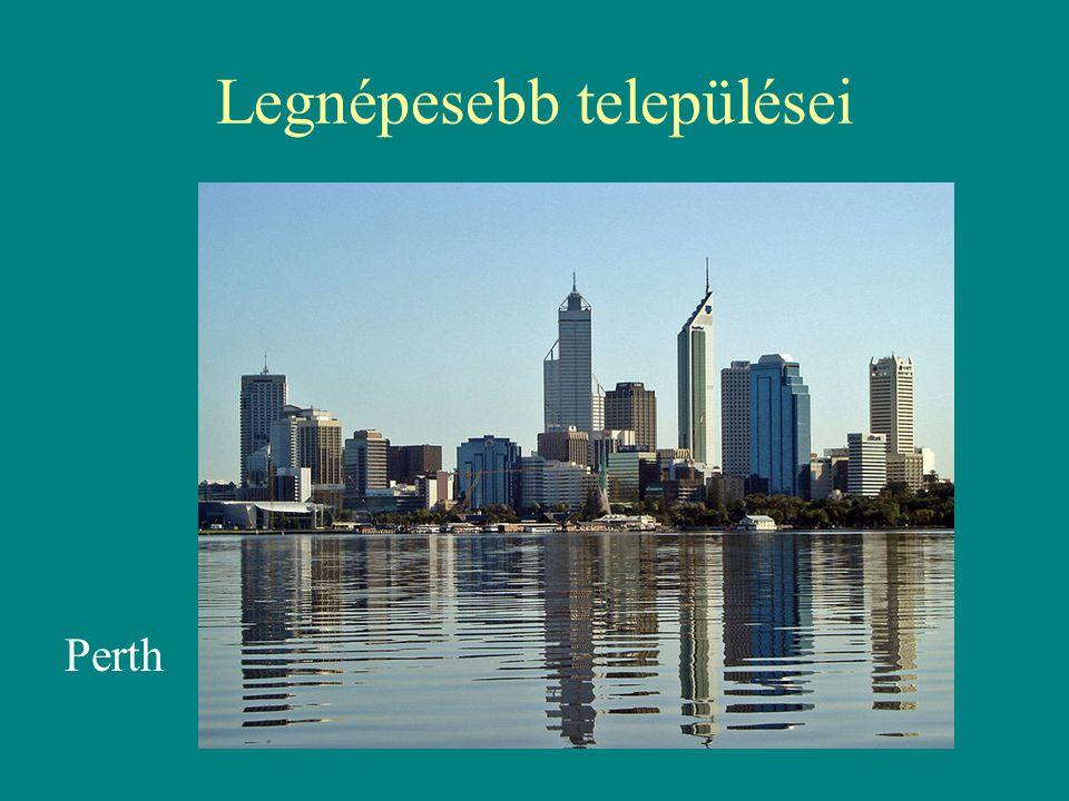 Legnépesebb települései Perth