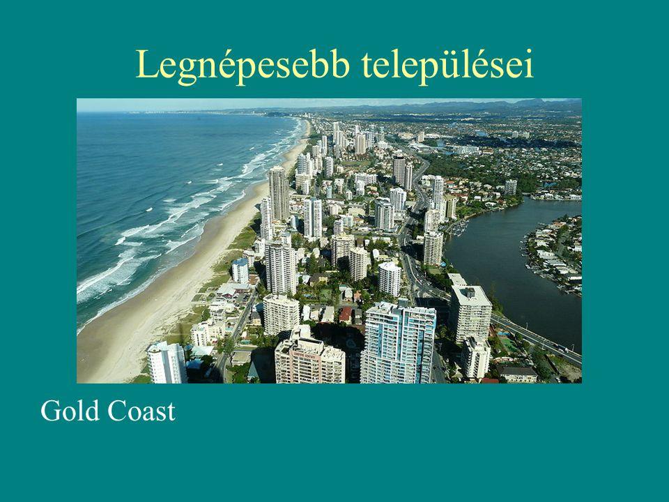 Legnépesebb települései Gold Coast