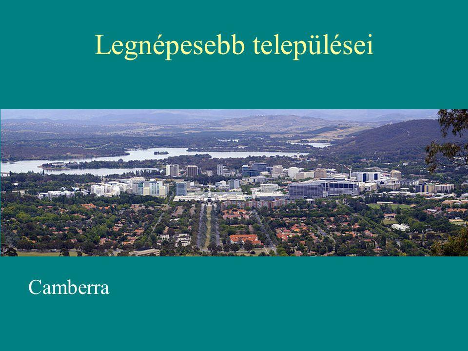Legnépesebb települései Camberra