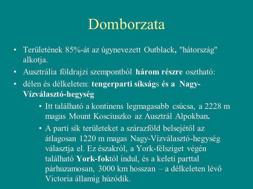 Domborzata Területének 85%-át az úgynevezett Outblack,