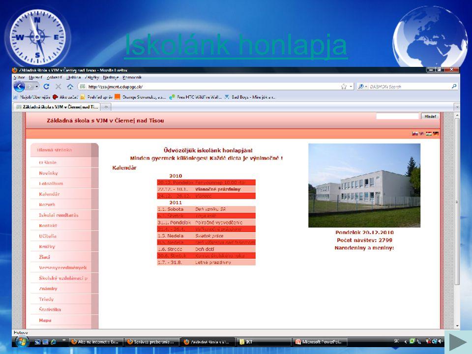 Iskolánk honlapja