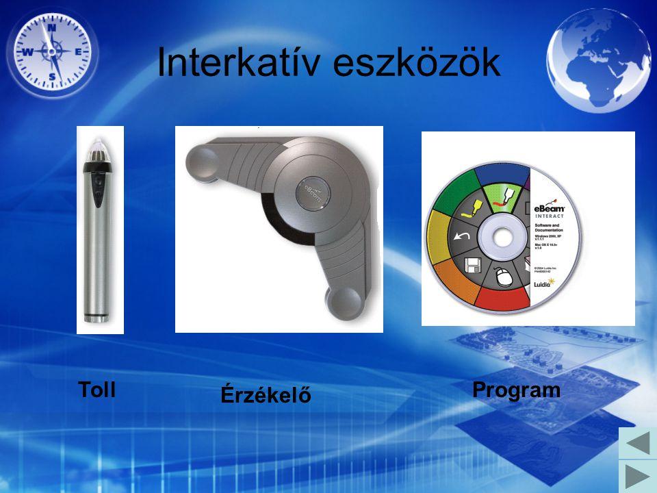 Interkatív eszközök Toll Érzékelő Program