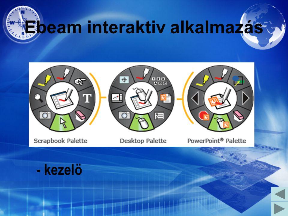 Ebeam interaktiv alkalmazás - kezelö