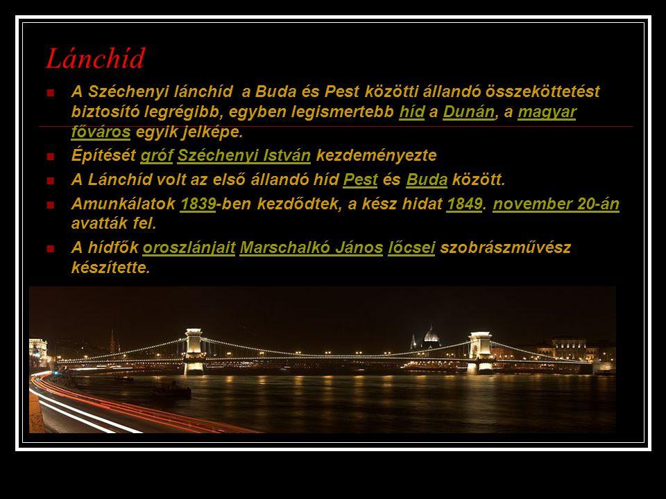 A Széchenyi lánchíd a Buda és Pest közötti állandó összeköttetést biztosító legrégibb, egyben legismertebb híd a Dunán, a magyar főváros egyik jelképe