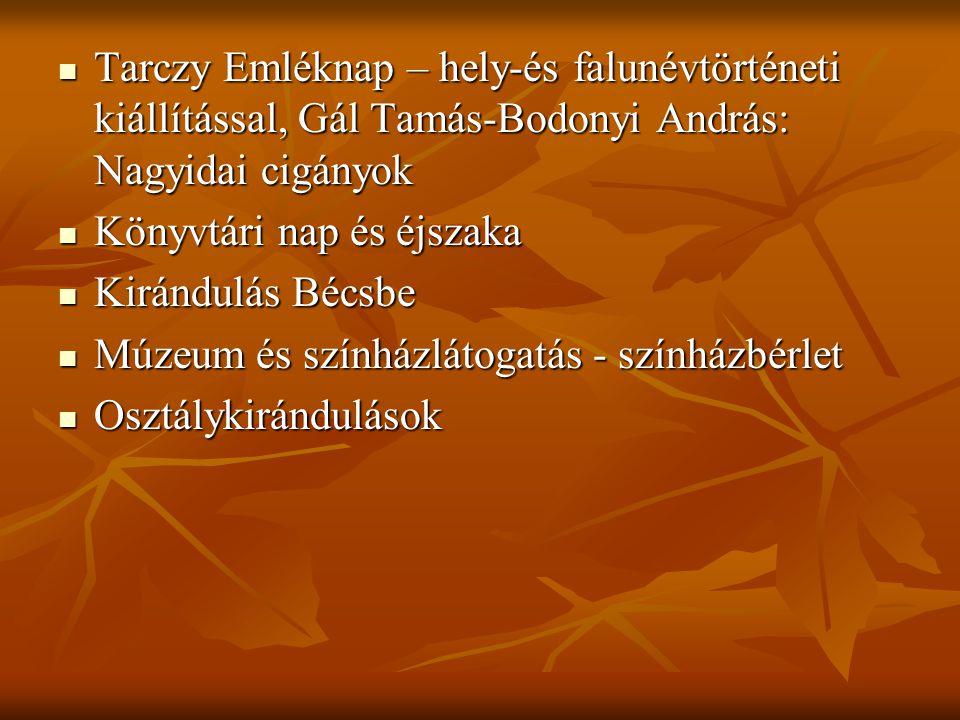 Tarczy Emléknap – hely-és falunévtörténeti kiállítással, Gál Tamás-Bodonyi András: Nagyidai cigányok Tarczy Emléknap – hely-és falunévtörténeti kiállí