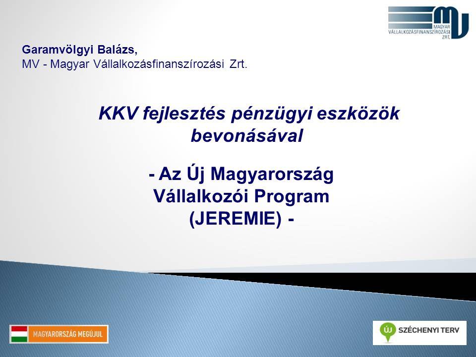 Garamvölgyi Balázs, MV - Magyar Vállalkozásfinanszírozási Zrt. KKV fejlesztés pénzügyi eszközök bevonásával - Az Új Magyarország Vállalkozói Program (