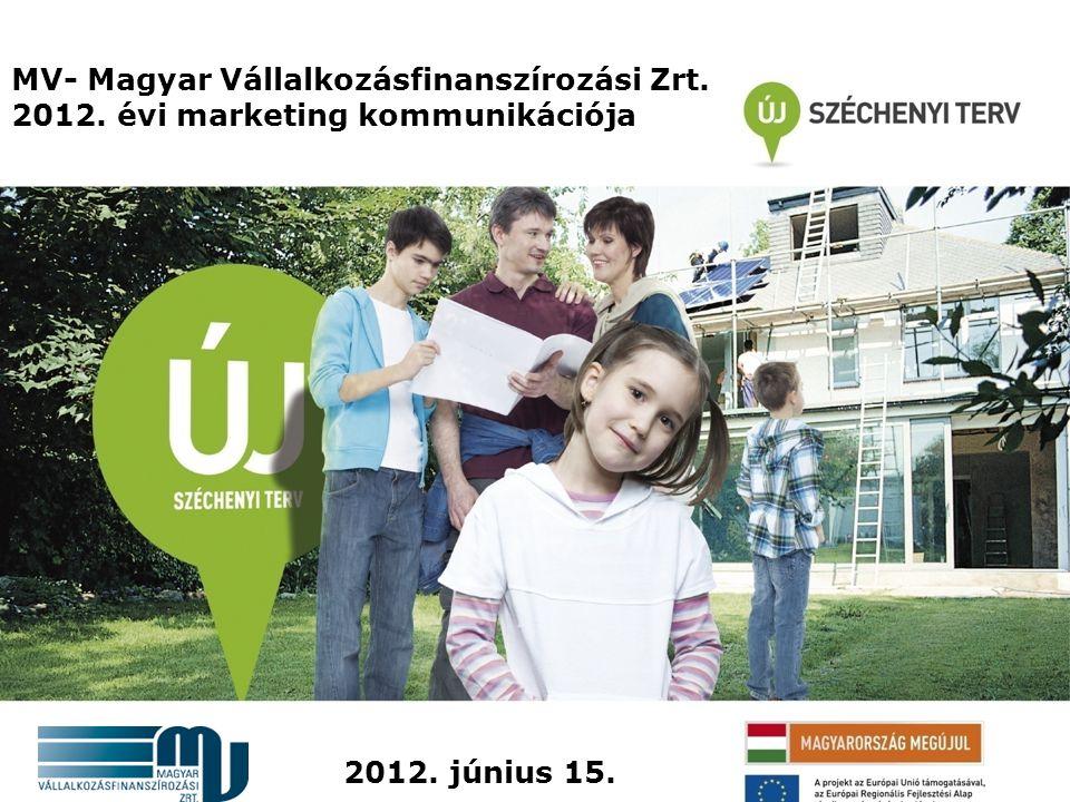 MV- Magyar Vállalkozásfinanszírozási Zrt. 2012. évi marketing kommunikációja 2012. június 15.