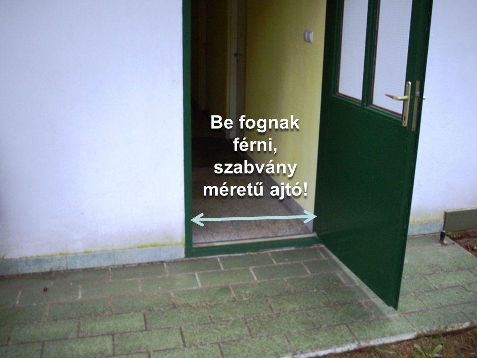 Be fognak férni, szabvány méretű ajtó!
