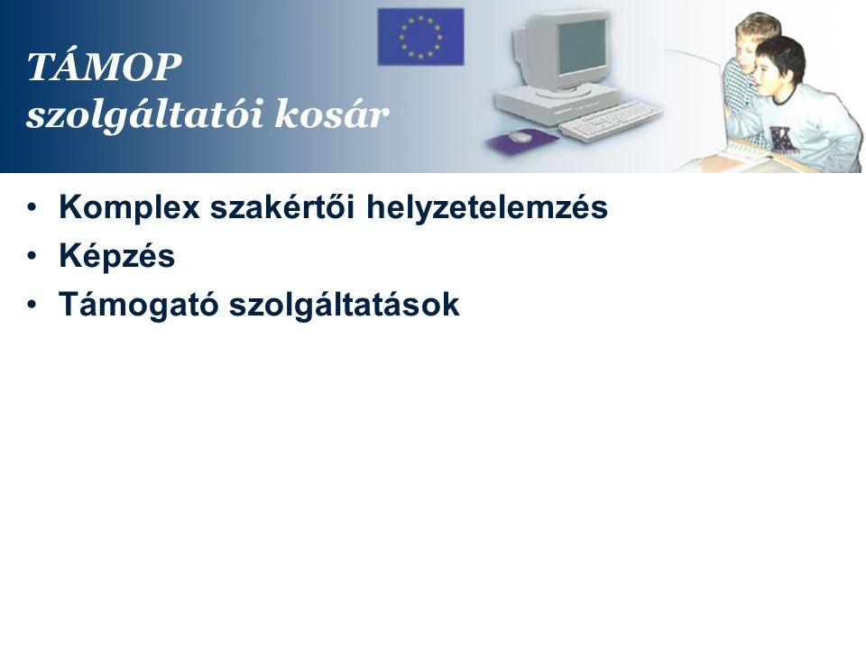 TÁMOP szolgáltatói kosár Komplex szakértői helyzetelemzés Képzés Támogató szolgáltatások