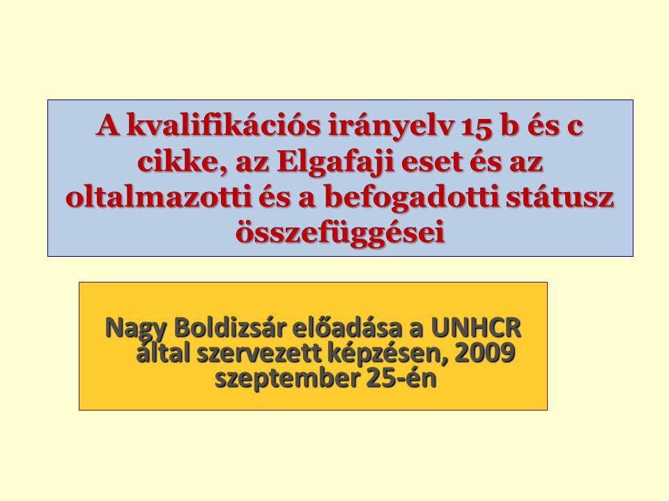 """Nagy Boldizsár előadása A """"fegyveres konfliktus értelmezése Humanitárius jog Genf, II jkv."""