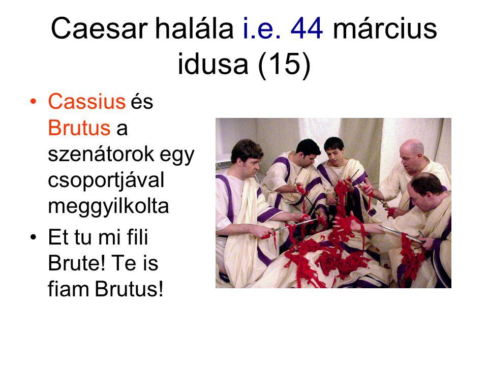 Caesar halála i.e.