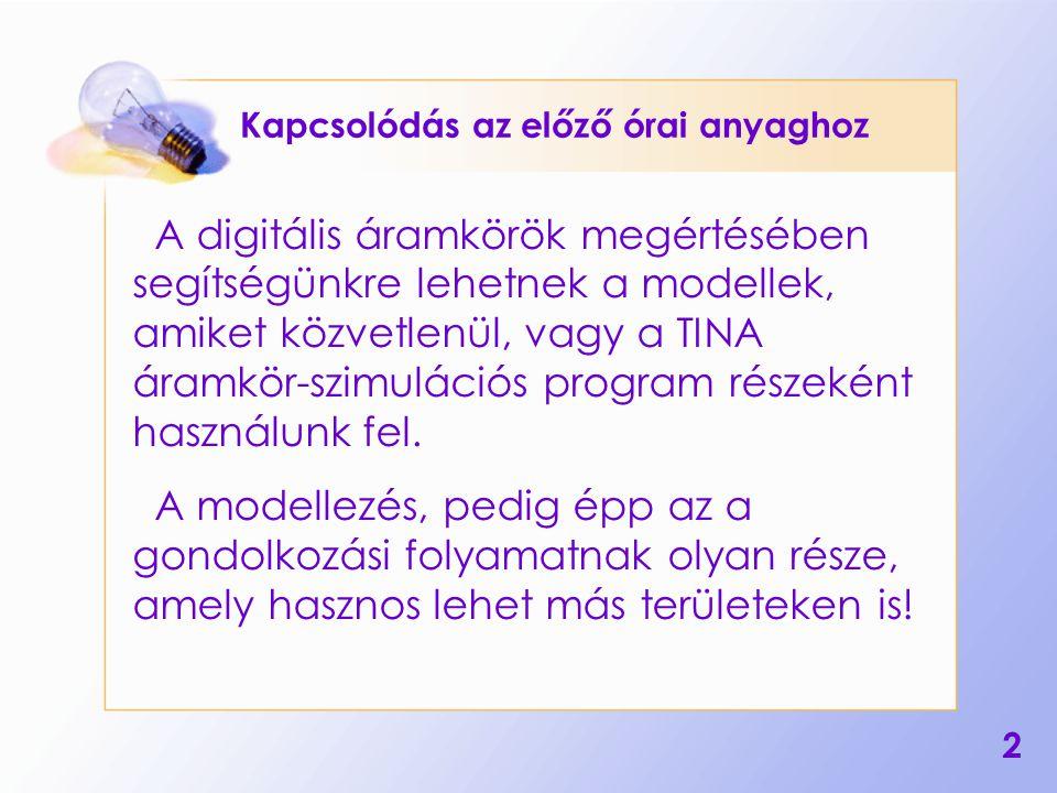 3 Lehetséges dolgozatkérdések Mi a modell.Hol használják a modelleket.