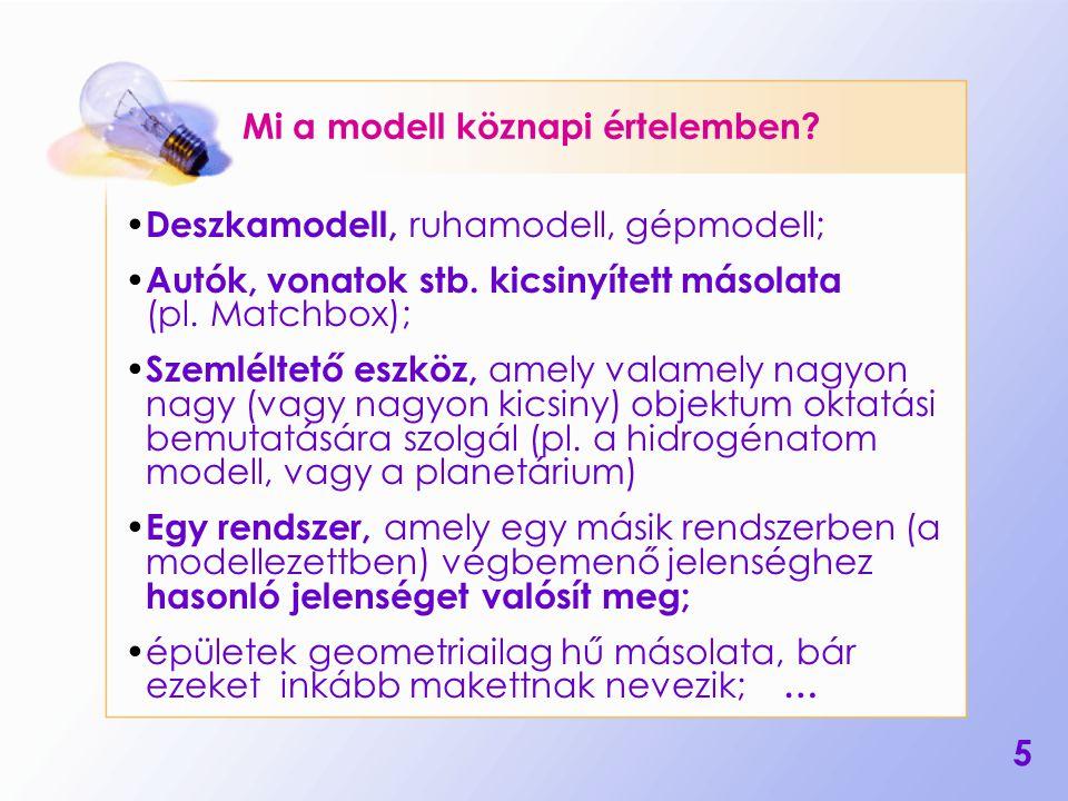 6 Mi a modell pontosabb definíciója.