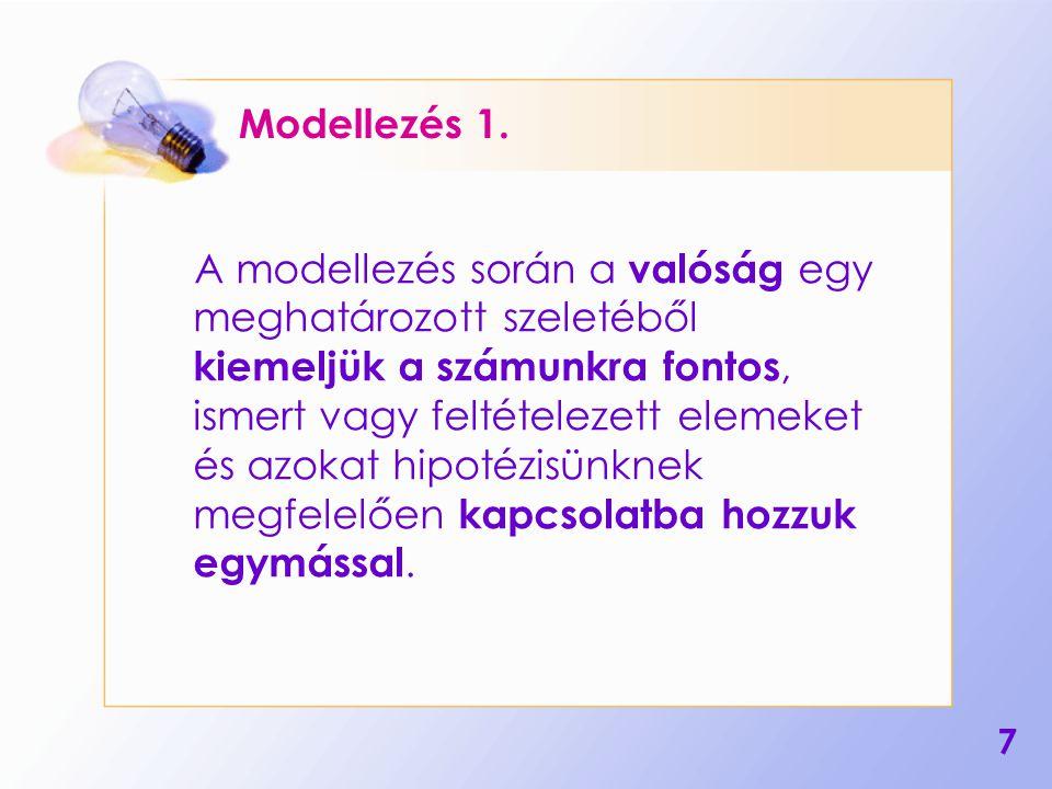 8 Modellezés 2.Az így elkészített modellt tesztelnünk kell.