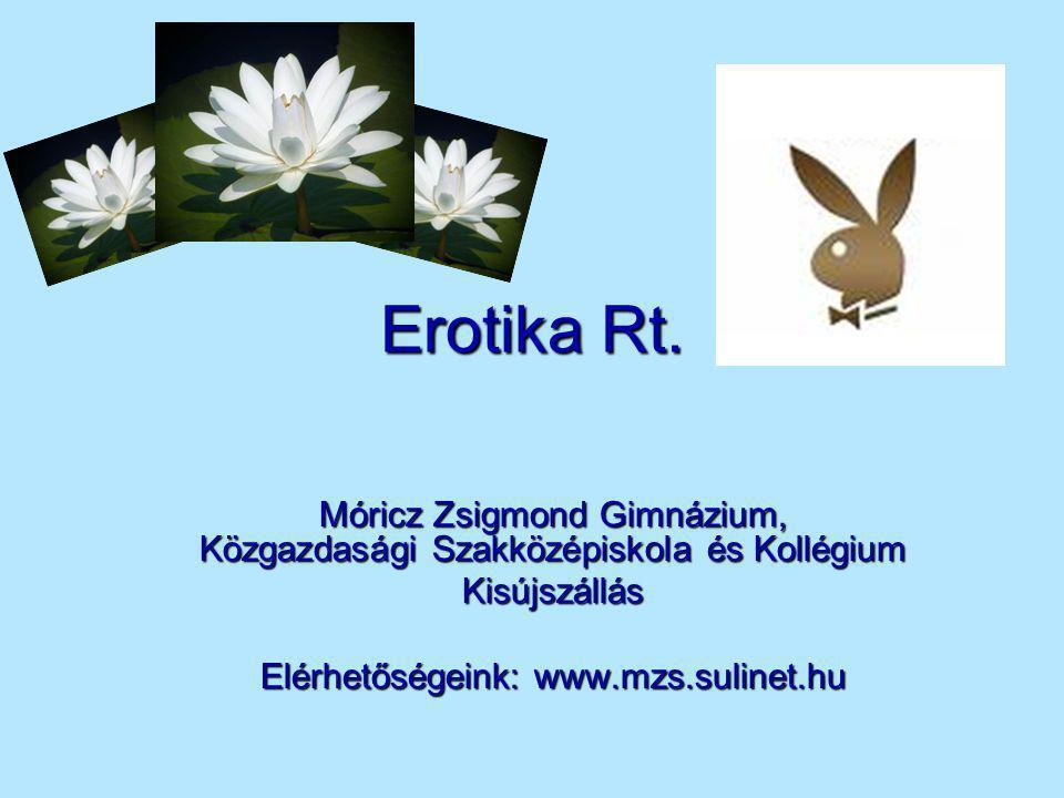 Az Erotika Rt.alakulása  Az Erotika Rt.