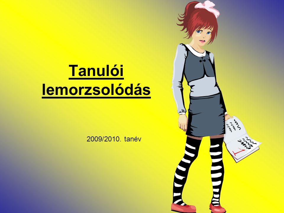 Tanulói lemorzsolódás 2009/2010. tanév