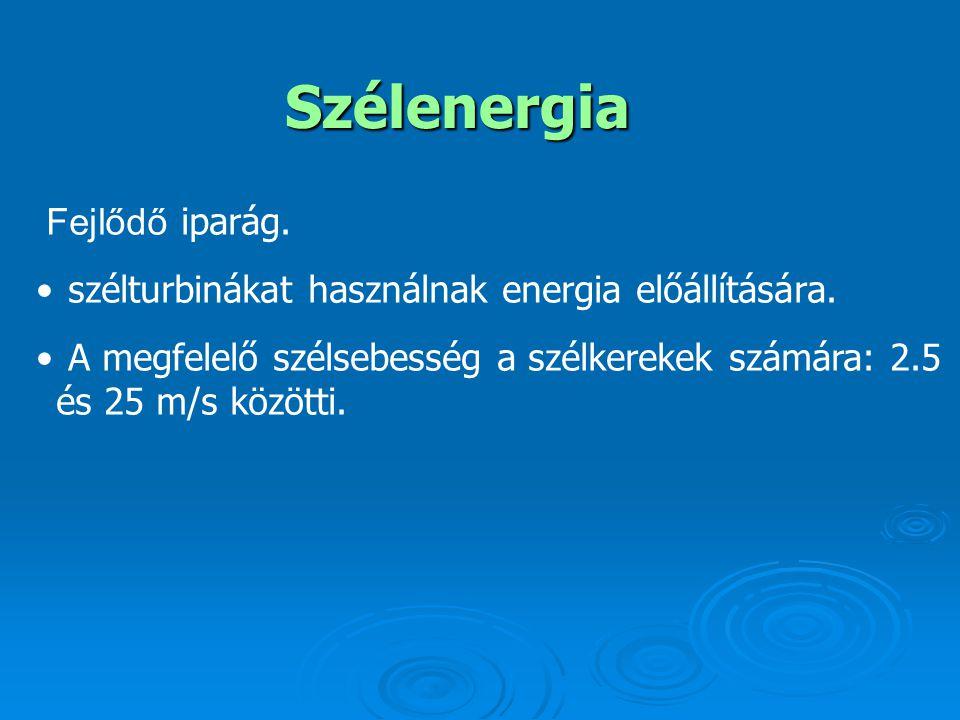A szélenergia európai hasznosítása Európa gazdag szélenergiában.