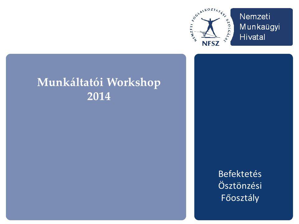 Munkáltatói Workshop 2014 Befektetés Ösztönzési Főosztály