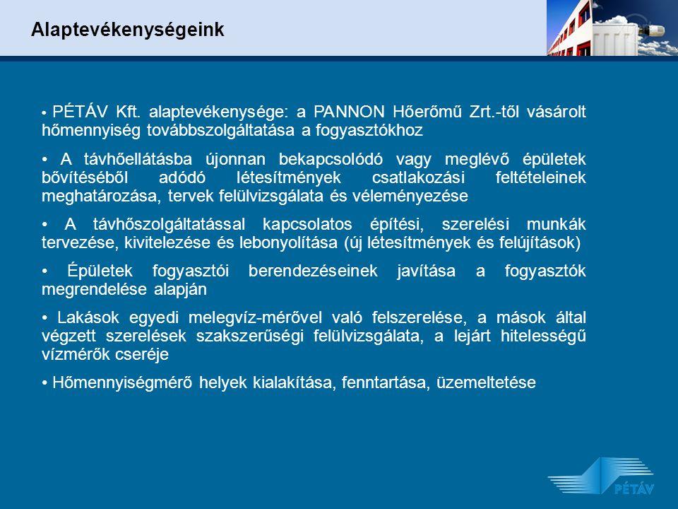 Alaptevékenységeink PÉTÁV Kft.