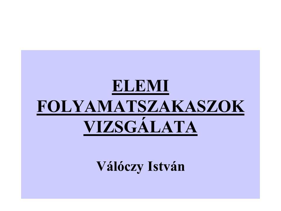 ELEMI FOLYAMATSZAKASZOK VIZSGÁLATA Válóczy István