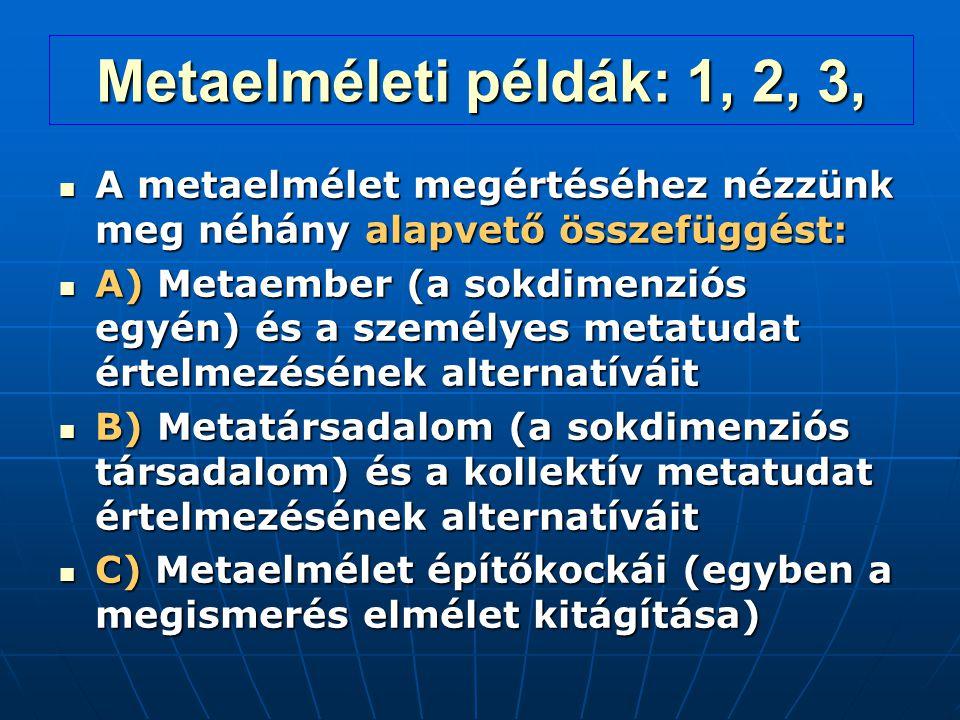 Metaelméleti példák: 1, 2, 3, A metaelmélet megértéséhez nézzünk meg néhány alapvető összefüggést: A metaelmélet megértéséhez nézzünk meg néhány alapv