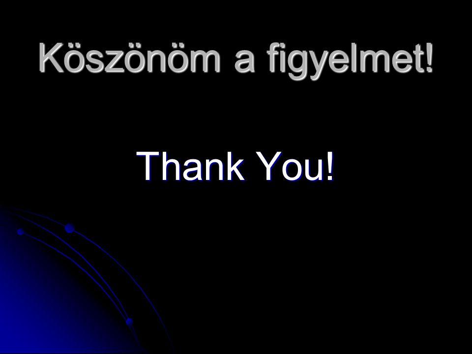 Köszönöm a figyelmet! Thank You!
