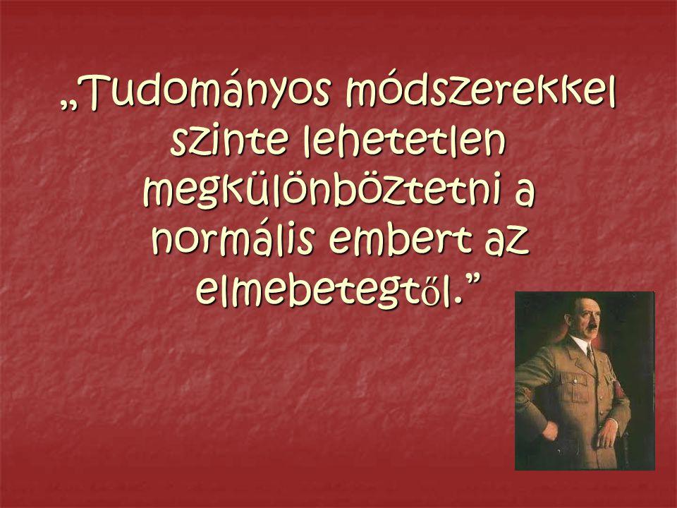 """""""Tudományos módszerekkel szinte lehetetlen megkülönböztetni a normális embert az elmebetegt ő l."""