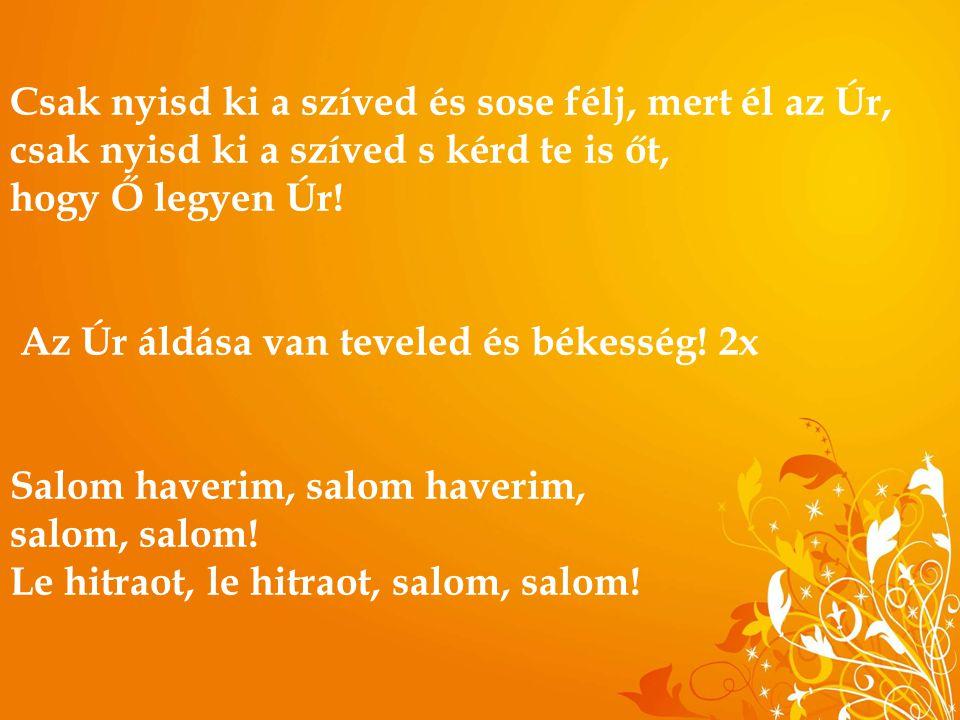 Isten élő Lelke, jöjj, áldva szállj le rám, Égi lángod járja át szívem és a szám.