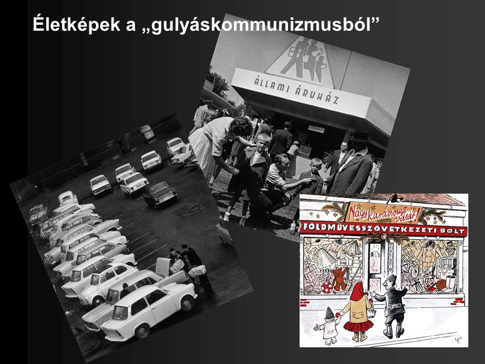 Pártállam az MSZMP szervezetei továbbra is összefonódtak az államhatalmi szervekkel Irányítás a párttitkár és a Központi Bizottság kezében Kommunista Ifjúsági Szövetség (KISZ), Úttörő és Kisdobos Mozgalom Szakszervezetek Országos Szövetsége, valódi érdekérvényesítés nélkül a keresők 96%-a szakszervezeti tag MSZMP taglétszáma 1957-350 ezer fő 1985-871 ezer fő
