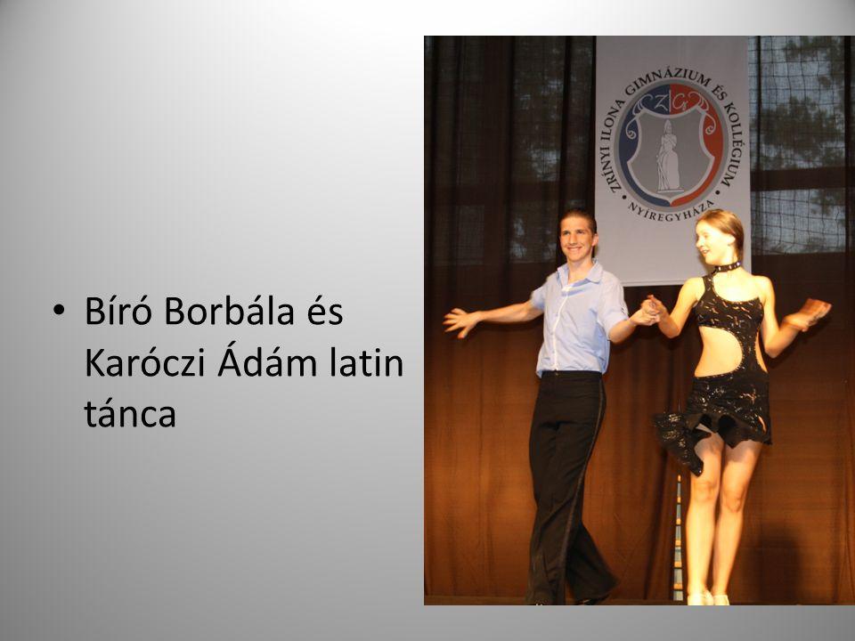 Bíró Borbála és Karóczi Ádám latin tánca