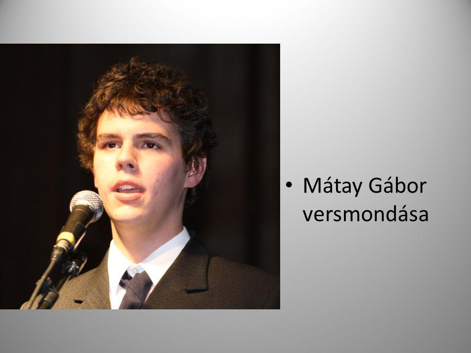 Mátay Gábor versmondása