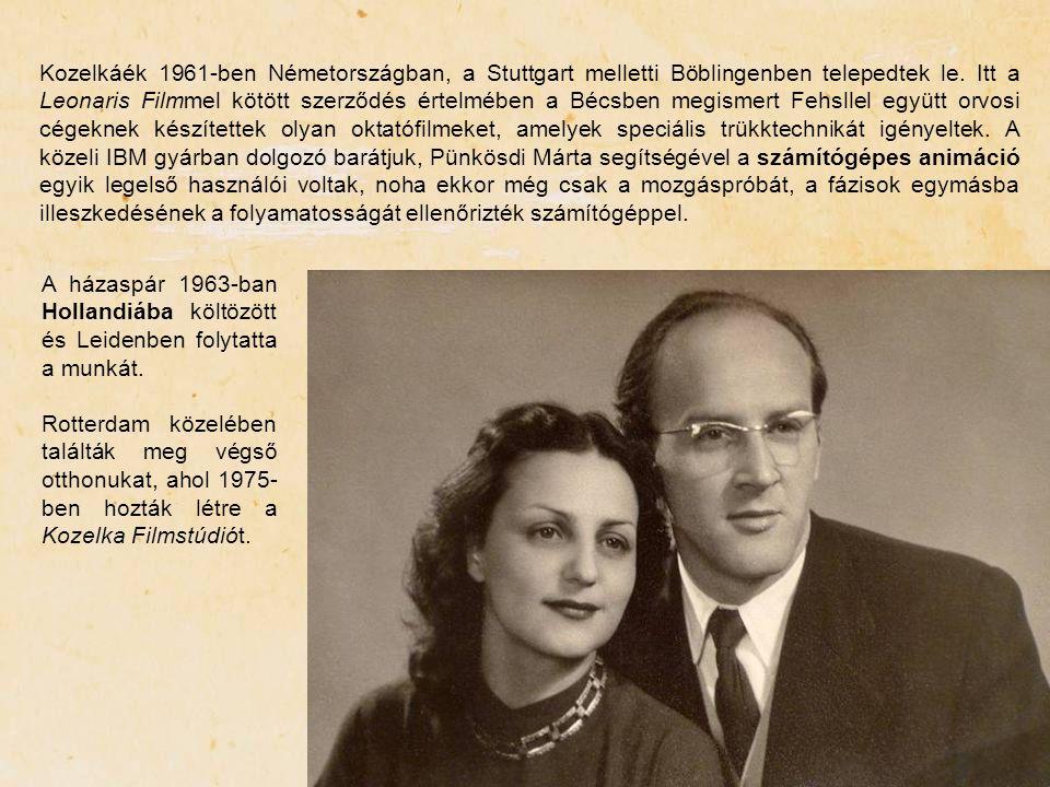 Kozelkáék 1961-ben Németországban, a Stuttgart melletti Böblingenben telepedtek le. Itt a Leonaris Filmmel kötött szerződés értelmében a Bécsben megis
