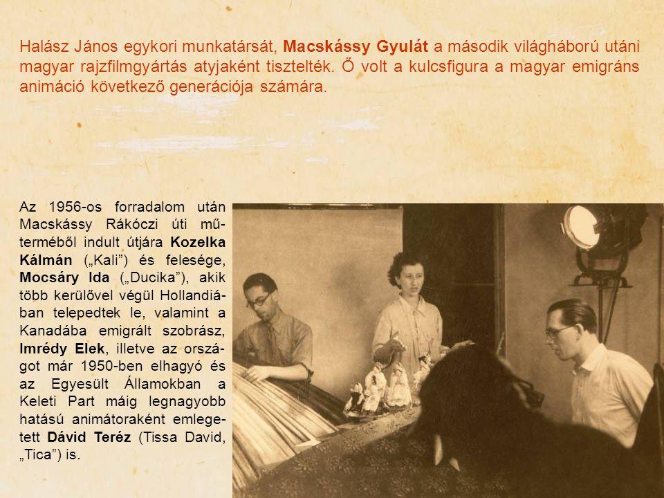 Halász János egykori munkatársát, Macskássy Gyulát a második világháború utáni magyar rajzfilmgyártás atyjaként tisztelték. Ő volt a kulcsfigura a mag
