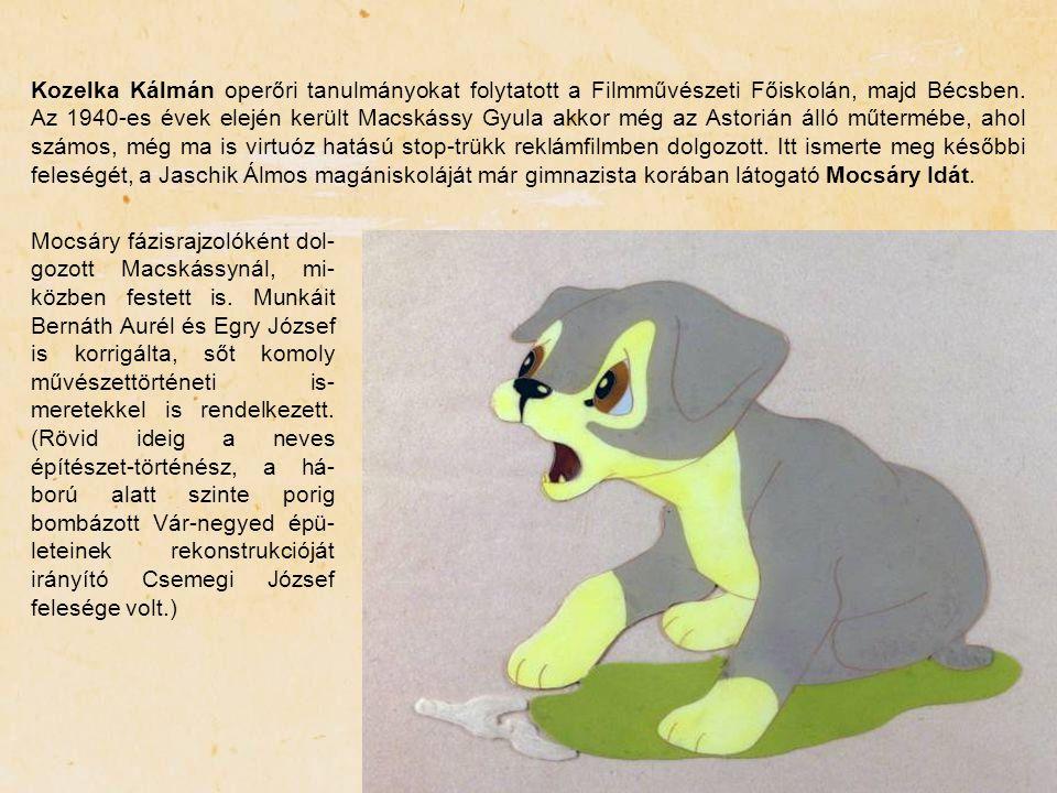 Kozelka Kálmán operőri tanulmányokat folytatott a Filmművészeti Főiskolán, majd Bécsben. Az 1940-es évek elején került Macskássy Gyula akkor még az As