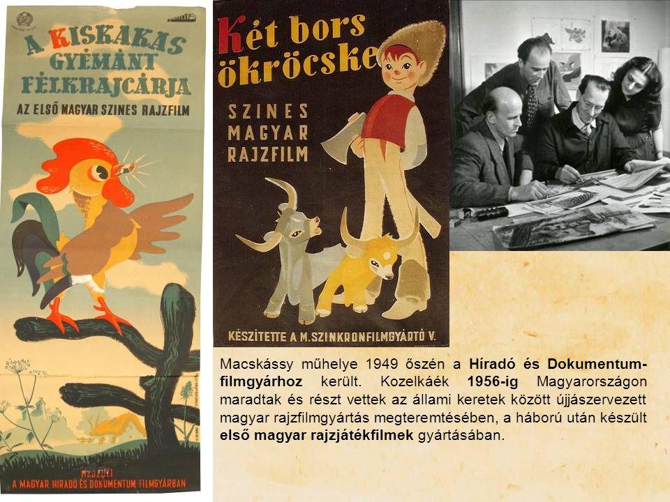 Macskássy műhelye 1949 őszén a Híradó és Dokumentum- filmgyárhoz került. Kozelkáék 1956-ig Magyarországon maradtak és részt vettek az állami keretek k