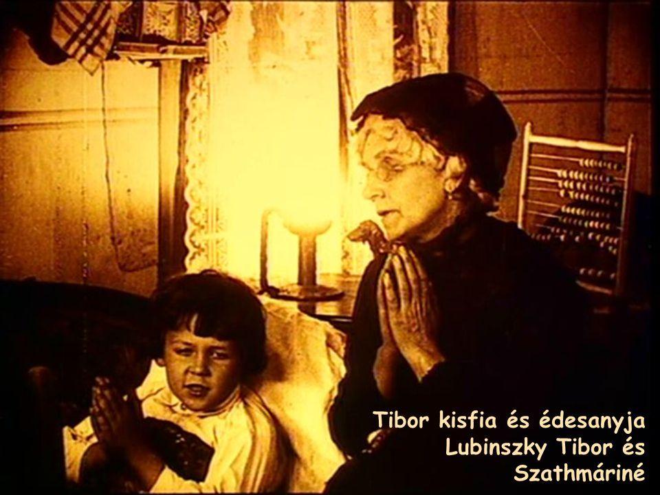 Tibor kisfia és édesanyja Lubinszky Tibor és Szathmáriné